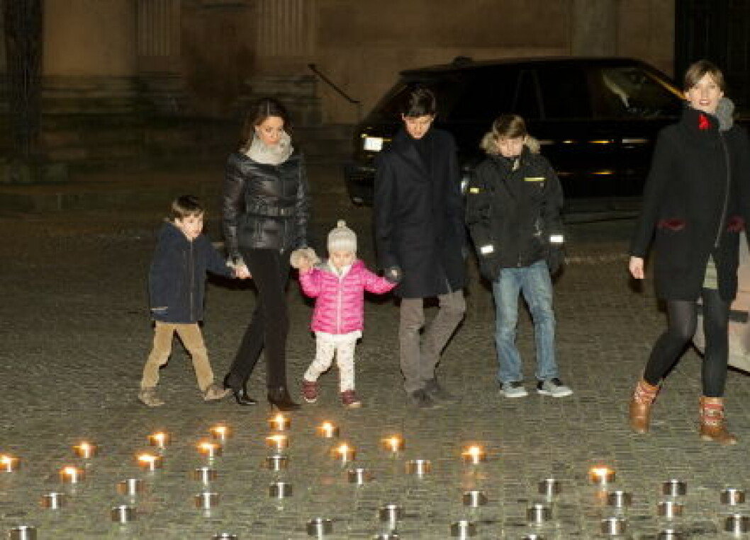 HRH Princess Marie attends World AIDS Day with her children