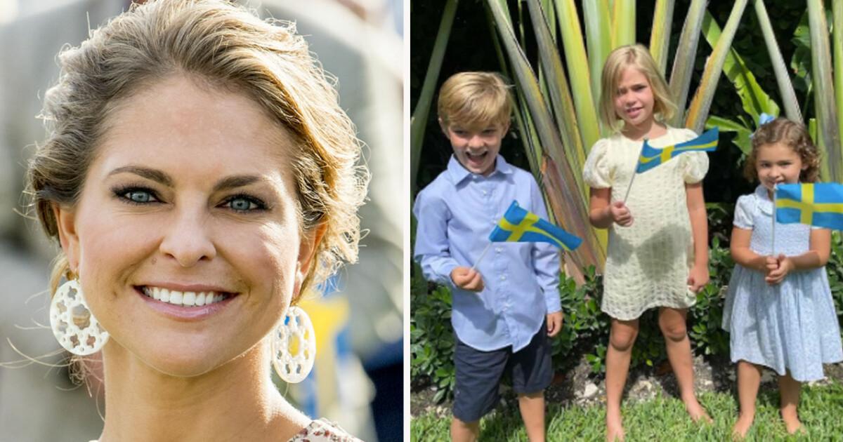 Madeleine firar nationaldagen med barnen – se bilden!