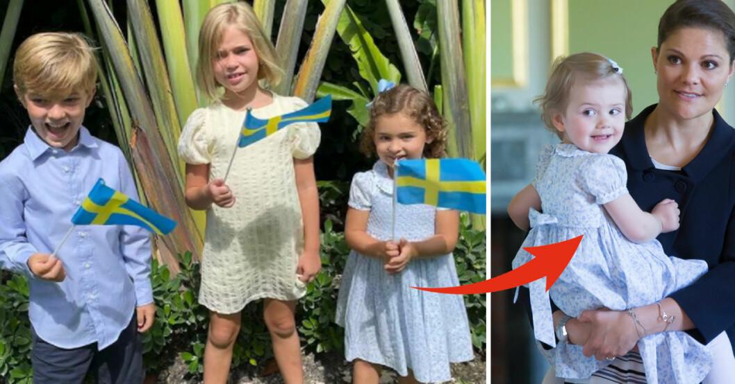 Prinsessan Adrienne Prins Nicolas Prinsessan Leonore Prinsessan Estelle Nationaldagen 2021