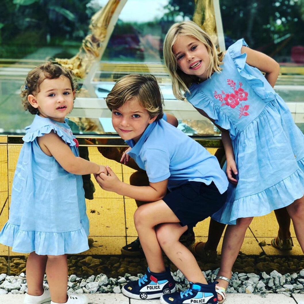 Adrienne, Nicolas och Leonore leker ofta tillsammans.