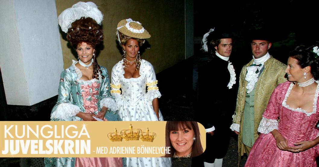 Victoria, Madeleien, prins Carl Philip på kusin Gustaf Magnusons 18-årsfest