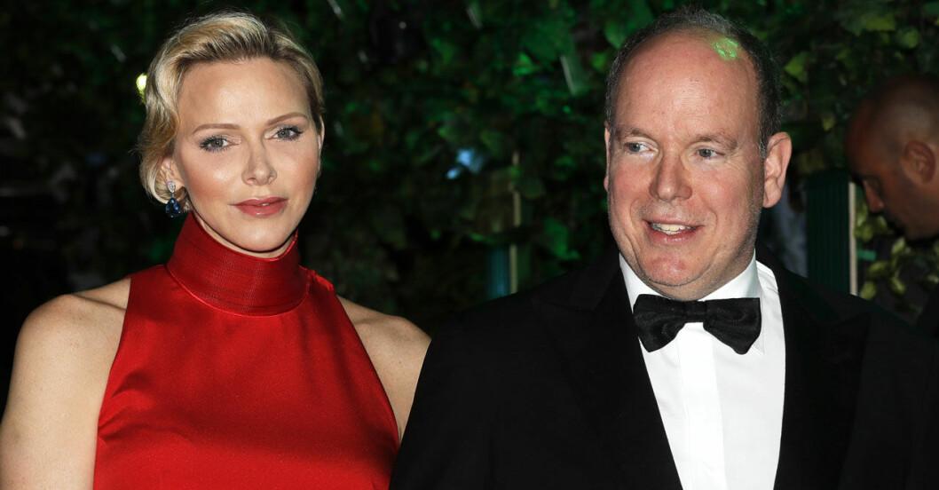 Furst Albert med hustrun Charlene.