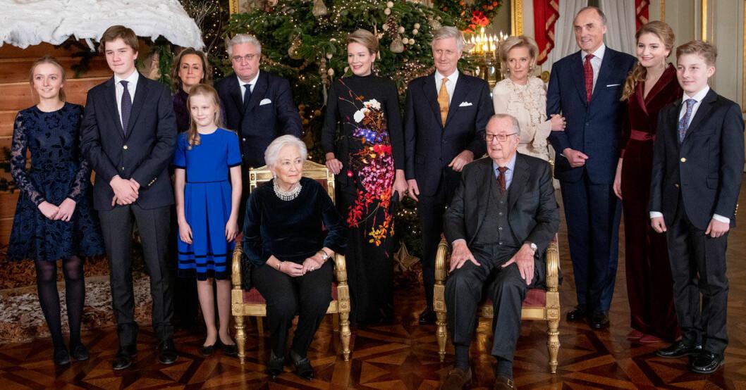 Albert II och resten av kungafamiljen i Belgien.