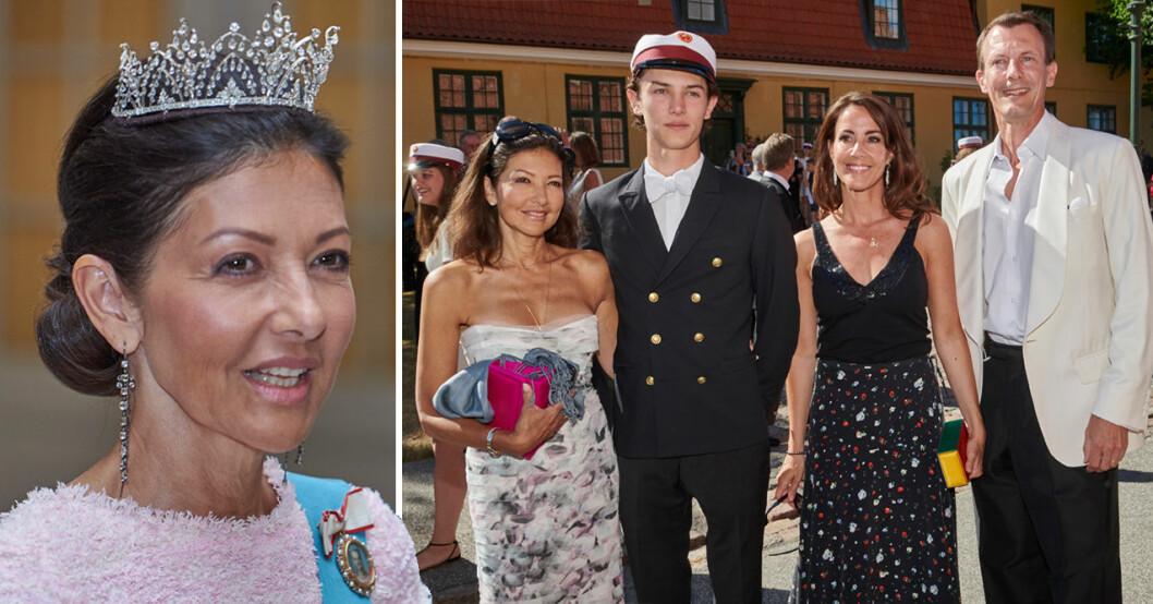 Grevinnan Alexandra med prinsessan Marie och prins Joachim
