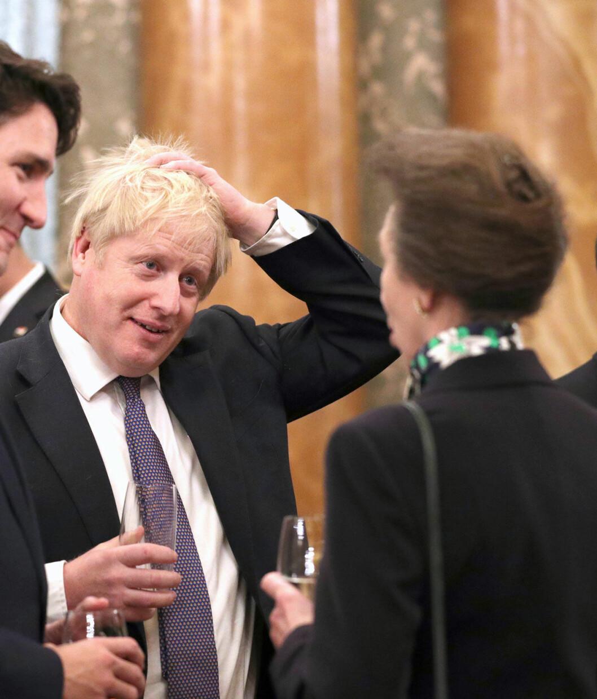 Prinsessan Anne och premiärminister Boris Johnson.