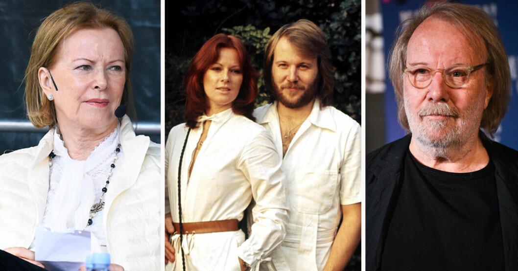 Anni-Frid Lyngstad och Benny Andersson