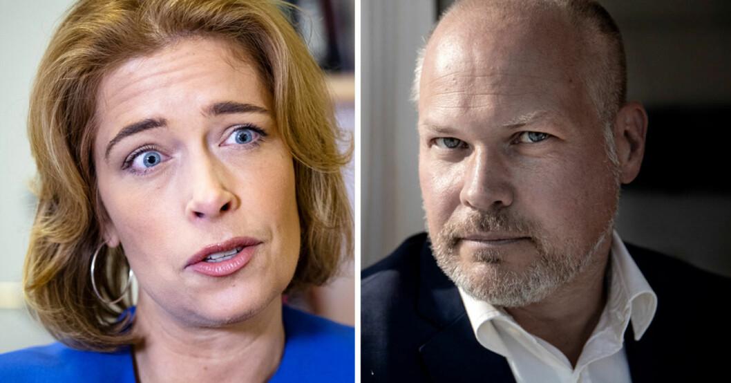 Annika Strandhäll och Morgan Johansson