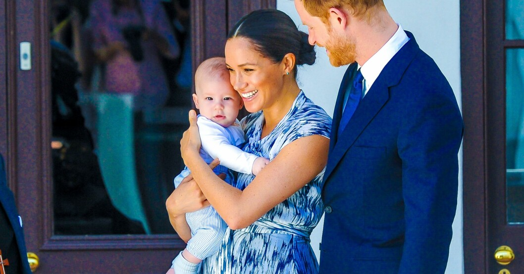 Archie Mountbatten Windsor, Meghan Markle och prins Harry