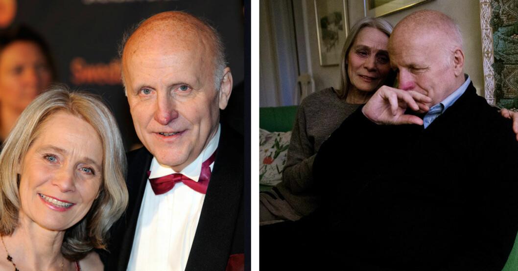 Arne Hegerfors och sin älskade hustru Kerstin.