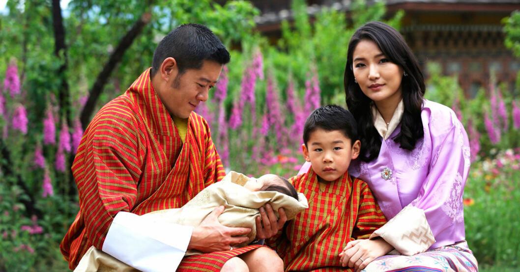 Nya babyn i kungafamiljen i Bhutan.