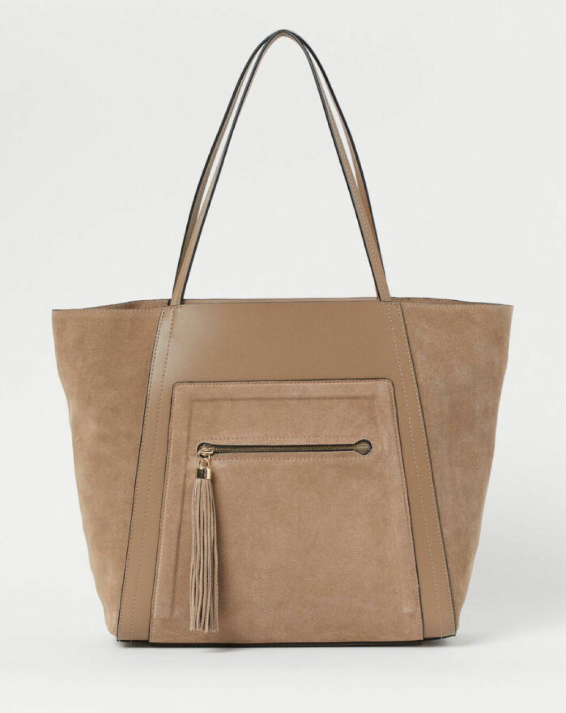 Beige väska i stor modell till våren 2020