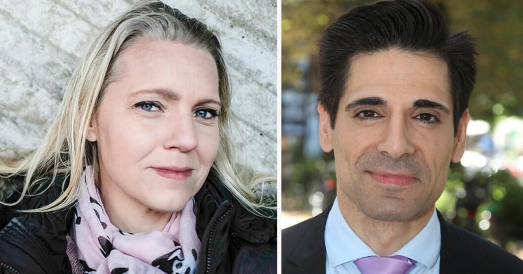Carina Bergfeldt och Marcus Oscarsson