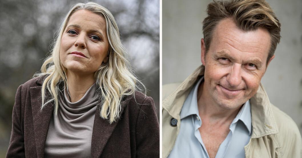 Carina Bergfeldt och Fredrik Skavlan