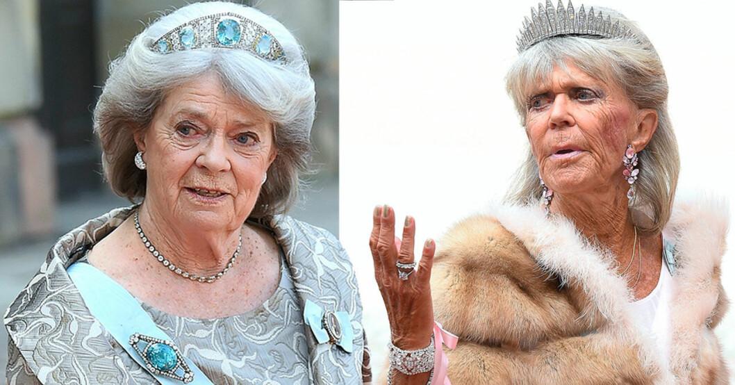 Kungens systrar prinsessan Margaretha och prinsessan Birgitta, två av Hagasessorna.