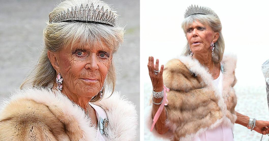 Prinsessan Birgitta i tiara.