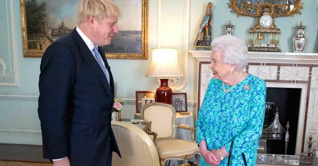 Boris Johnson har regelbundna audienser med drottningen.