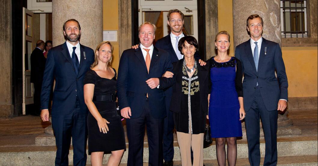Huset Bourbon-Parma. Tredje från höger är den numera avlidna prinsessan Maria Teresa.