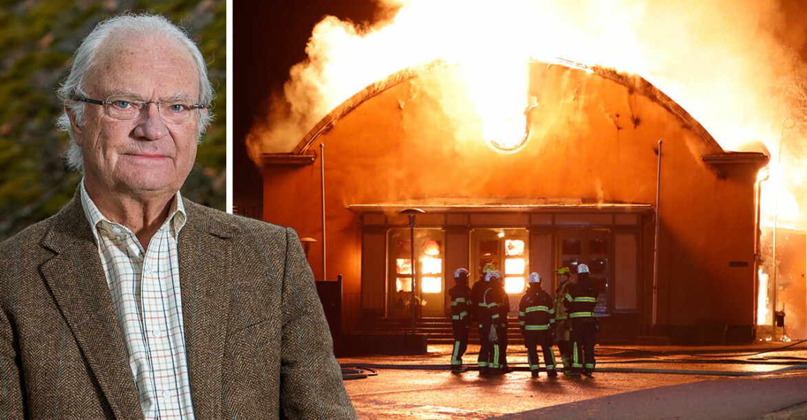 Brand Sigtunaskolan Humanistiska Läroverket Sigtuna Kungens gamla skola