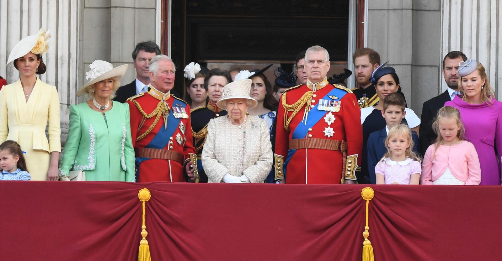 Brittiska kungafamiljen Drottning Elizabeth Dödsfall