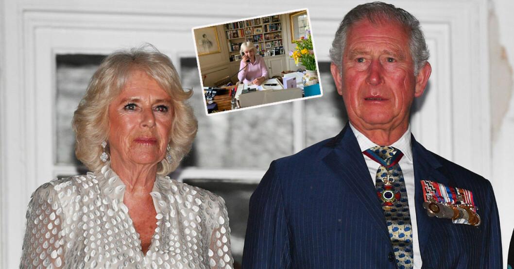 Hertiginnan Camilla och prins Charles