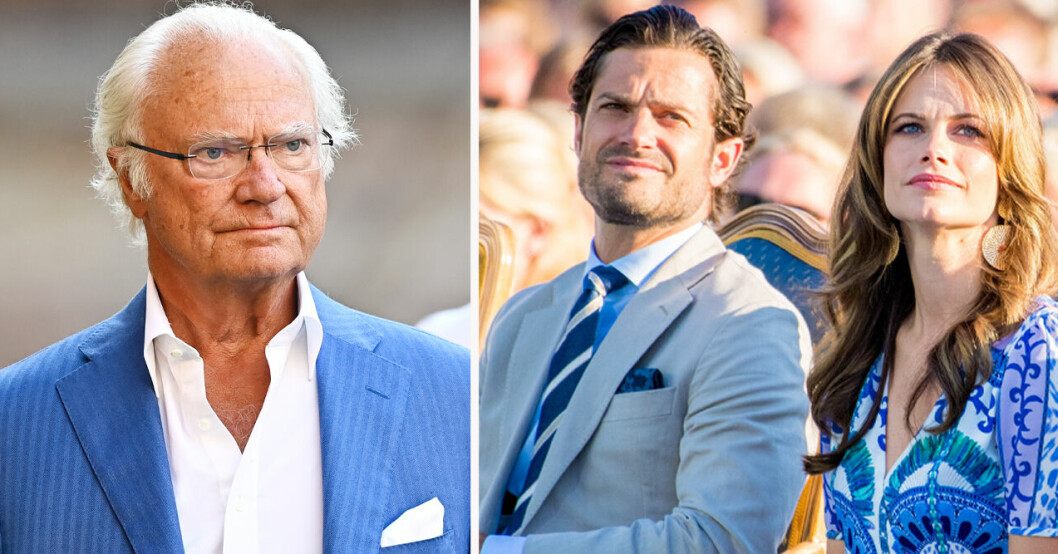 Kung Carl Gustaf, prins Carl Philip och prinsessan Sofia