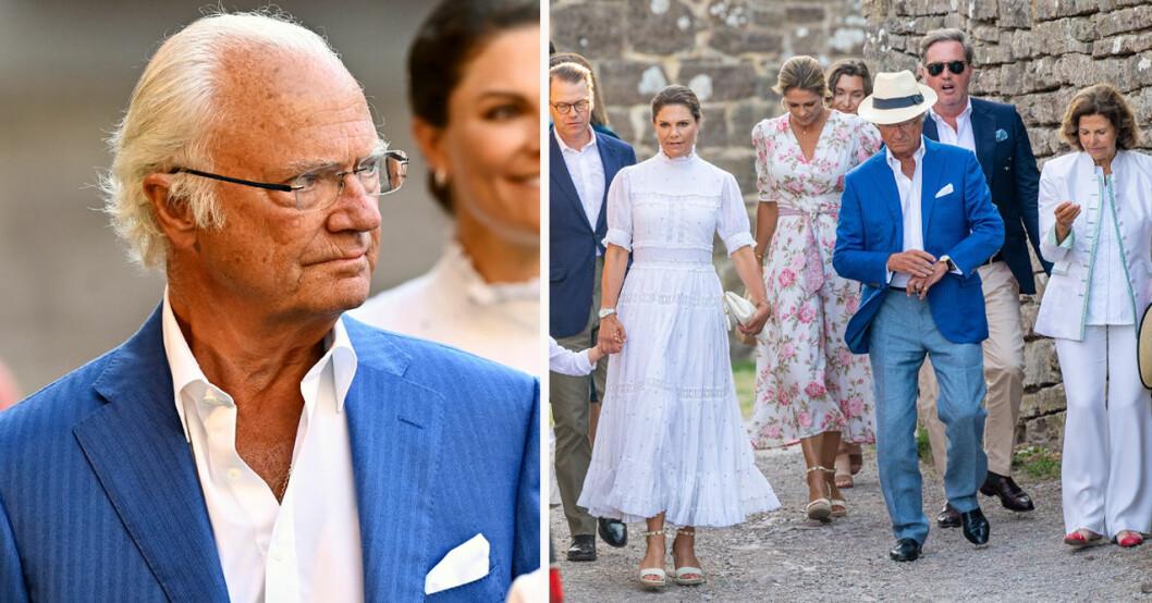 Kung Carl Gustaf, prins Daniel, kronprinsessan Victoria, prinsessan Madeleine, Chris O'Neill och drottning Silvia