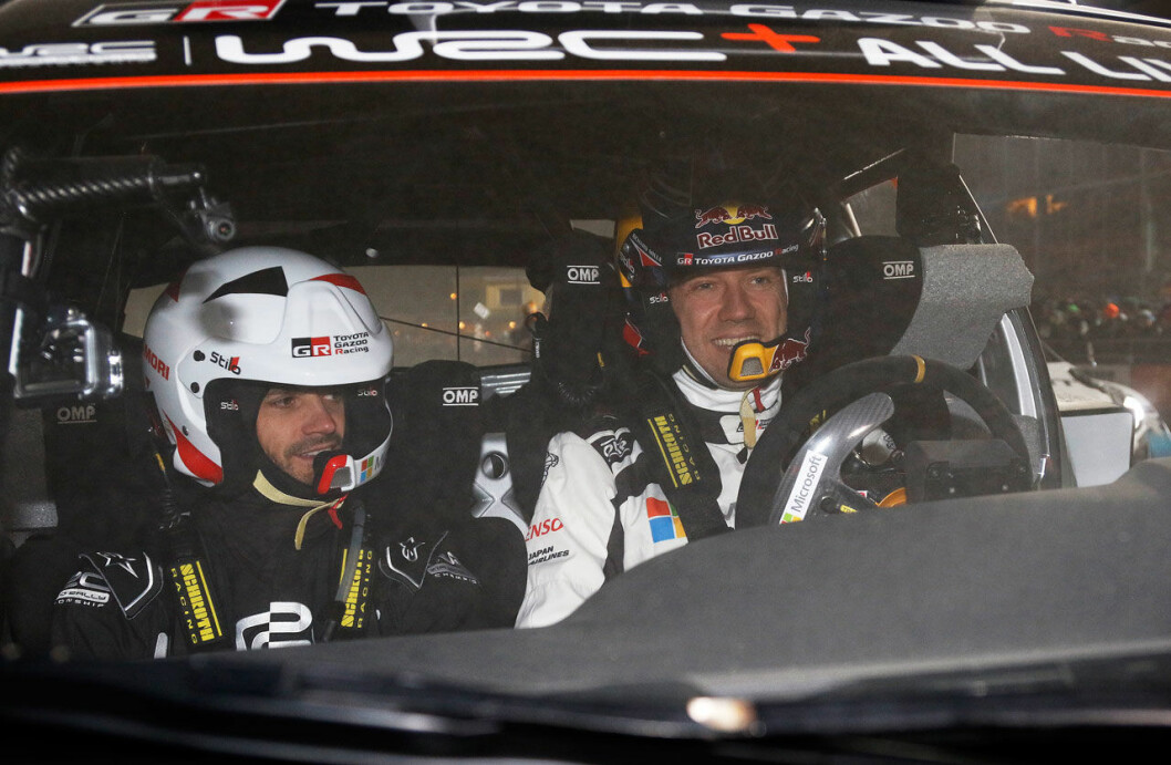 Prins Carl Philip som co-driver under Rally Sweden.