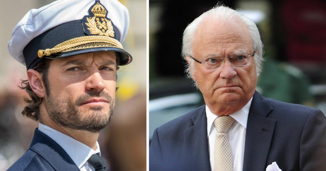 Prins Carl Philip och kung Carl Gustaf