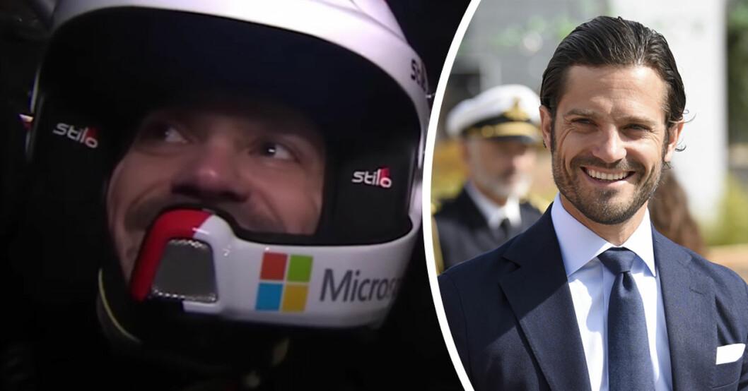 prins carl philip i Svenska Rallyt 2020