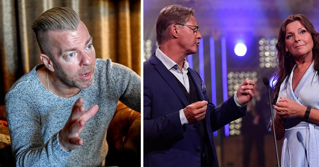 Casper Janebrink är en av sommarens programledare för Bingolotto, och en av gästerna är Mikael Sandström.