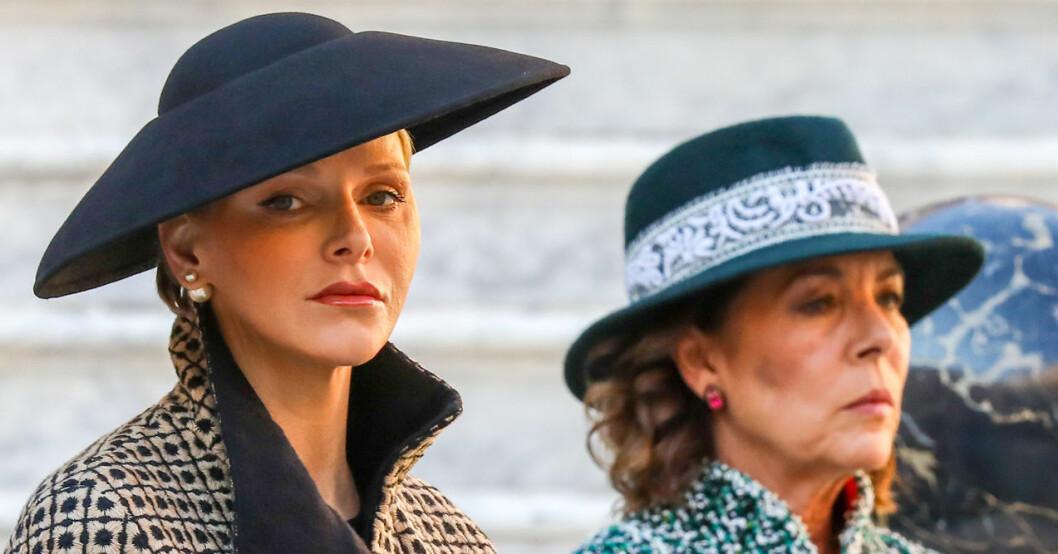 Prinsessan Caroline och furstinnan Charlene