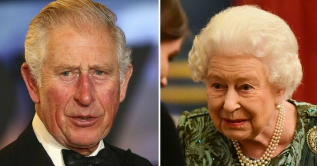 Prins Charles och drottning Elizabeth