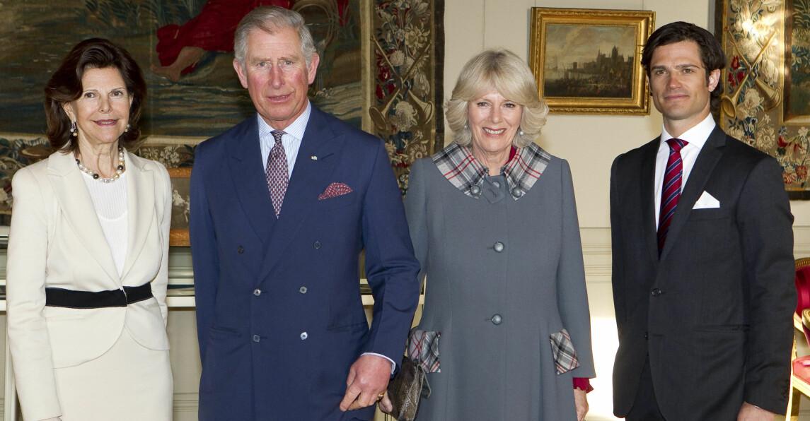 Drottning Silvia Prins Charles Hertiginnan Camilla Prins Carl Philip
