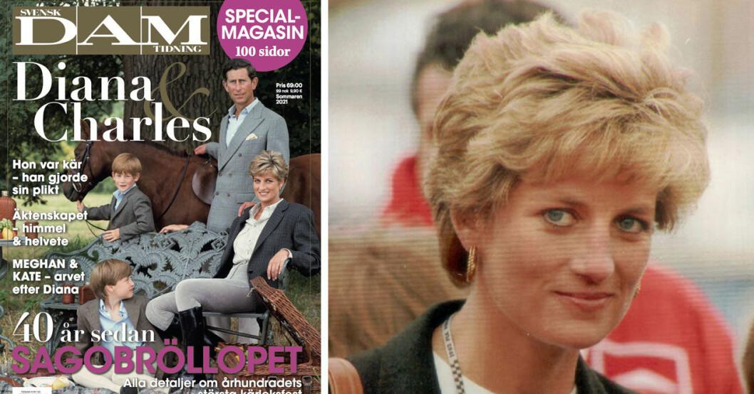 Köp Svensk Dams specialtidning Diana och Charles – 40 år sedan sagobröllopet