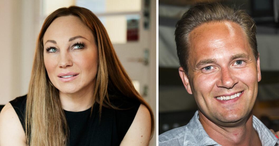 Charlotte Perrelli och Anders Jensen