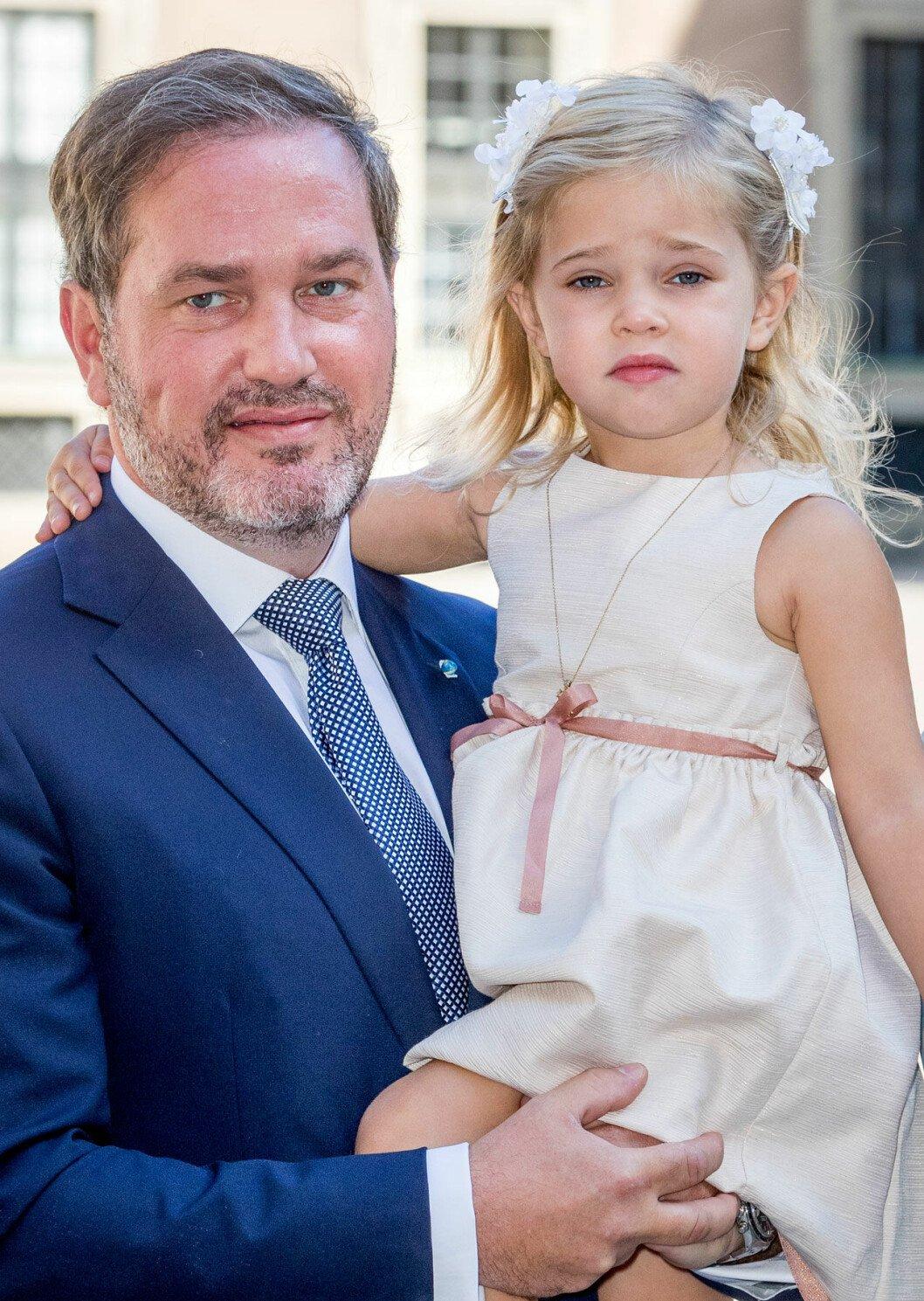 Chris O'Neill och prinsessan Leonore.