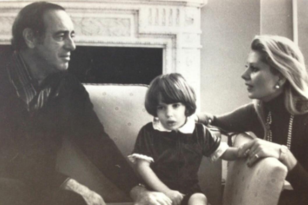 Chris med sina föräldrar pappa Paul O'Neill och Eva Maria O'Neill.