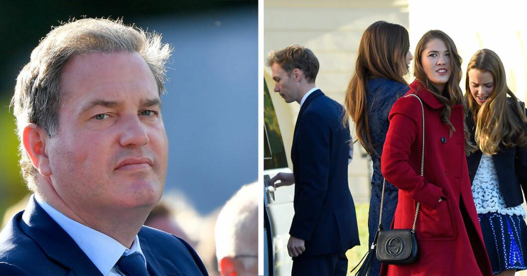 Celina var på plats vid prins Nicholas dop.