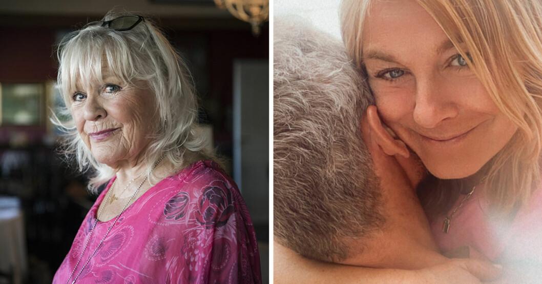 Christina Schollin är lycklig för att hennes dotter Pernilla Wahlgren hittat Christian Bauer.