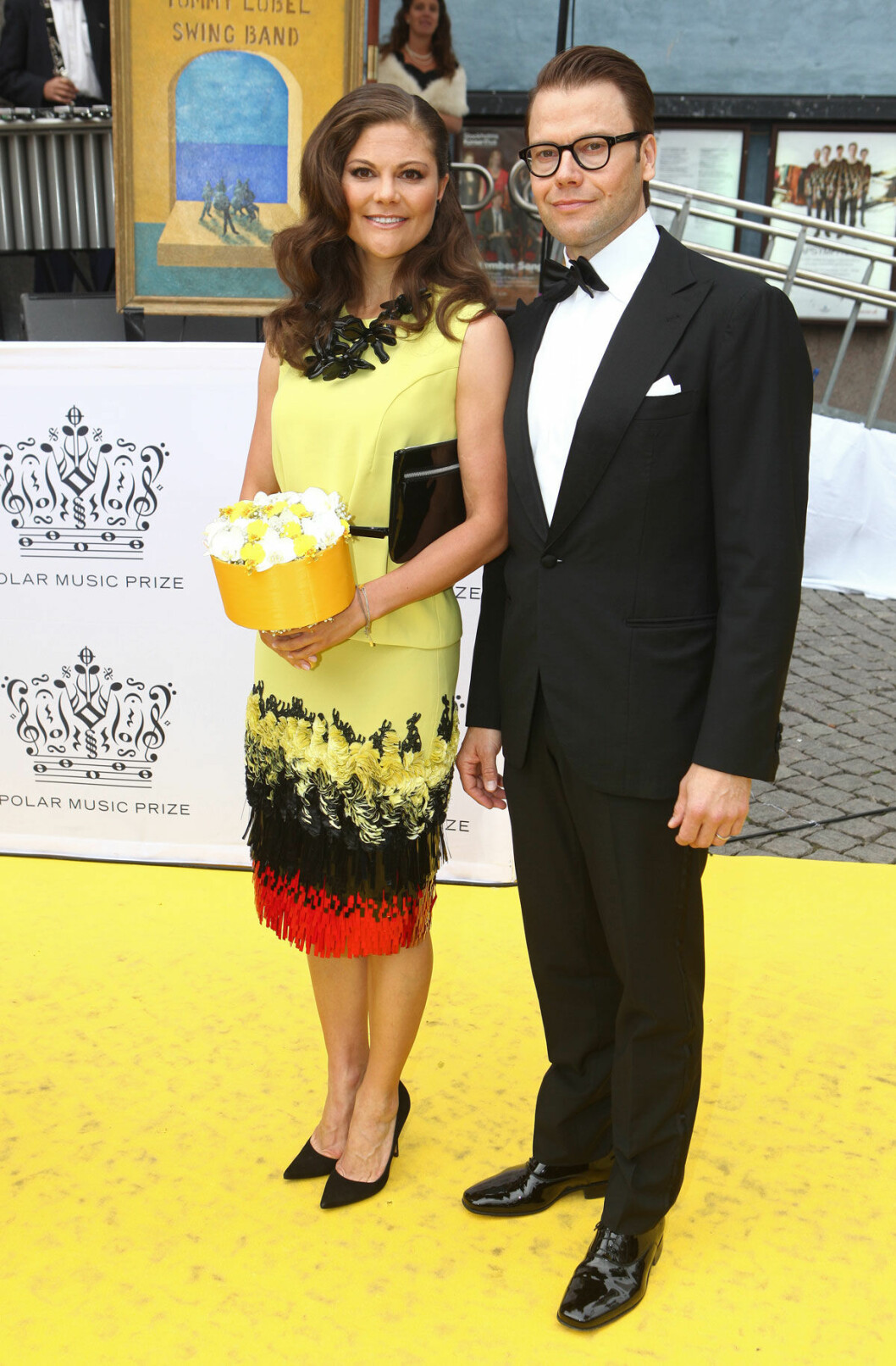 Kronprinsessan Victoria och prins Daniel på röda mattan för Polar Music Prize.