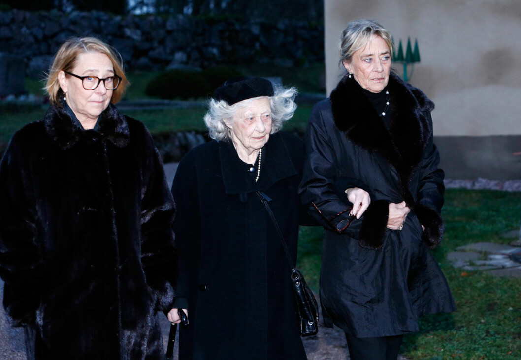 Dagmar von Arbin med sina barn Madeleine De Geer och Catherine von Arbin.