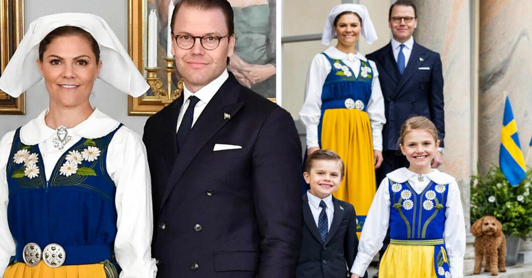 Kronprinsessan Victoria, prins Daniel, prins Oscar och prinsessan Estelle