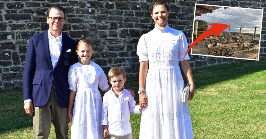 Prins Daniel, prinsessan Estelle, prins Oscar och kronprinsessan Victoria