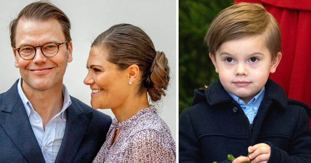 Prins Daniel, kronprinsessan Victoria och prins Oscar