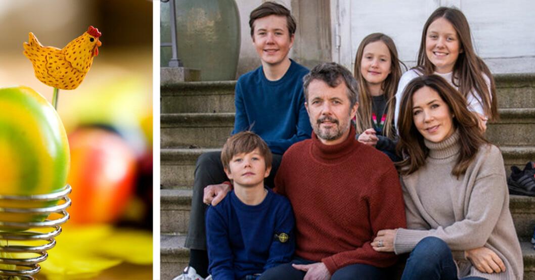 Danska kronprinsfamiljen firar påsk.