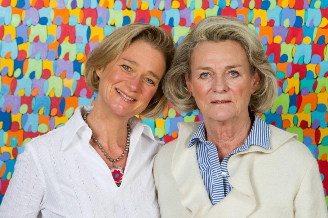 Kung Alberts dotter Delphine Boel med mamma Sybille de Selys Longchamps.