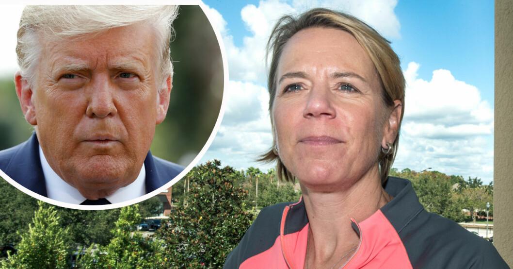 Donald Trump och Annika Sörenstam