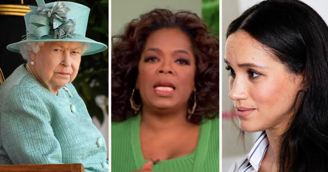 Drottning Elizabeth, Oprah Winfrey och hertiginnan Meghan Markle