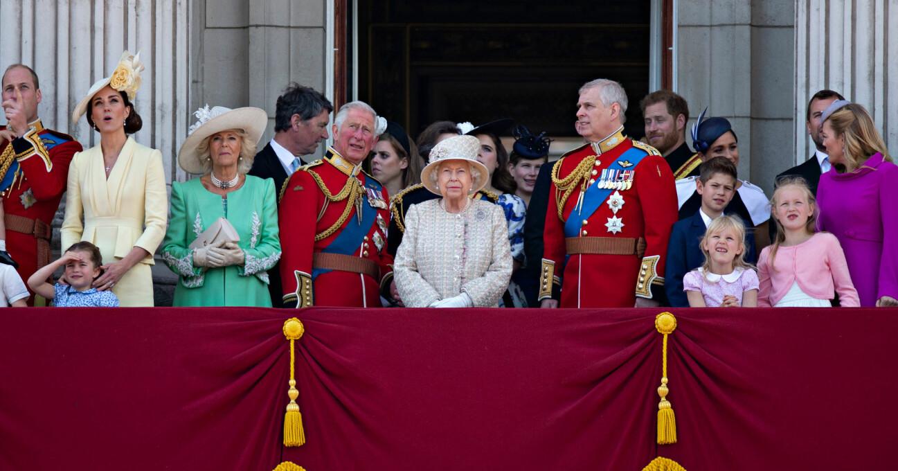 Drottning Elizabeth Brittiska kungafamiljen