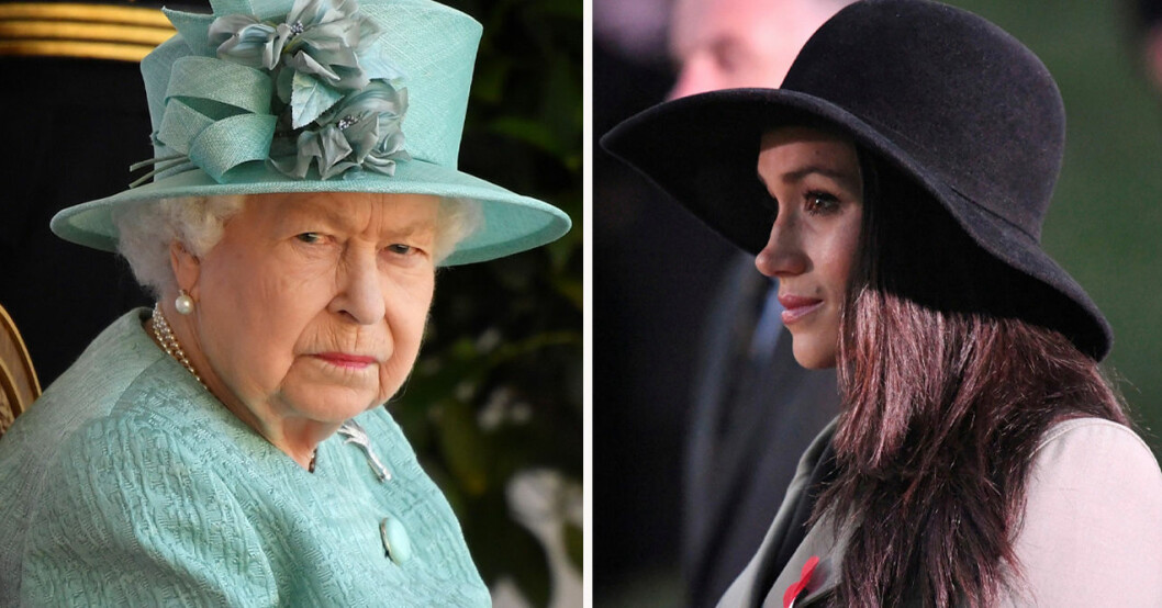 Drottning Elizabeth och Meghan Markle
